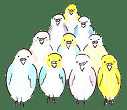 Cute Little Parakeet - HAPPY LIFE sticker #325636