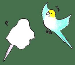 Cute Little Parakeet - HAPPY LIFE sticker #325637