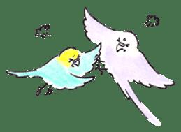 Cute Little Parakeet - HAPPY LIFE sticker #325638
