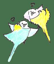 Cute Little Parakeet - HAPPY LIFE sticker #325639