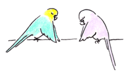 Cute Little Parakeet - HAPPY LIFE sticker #325640