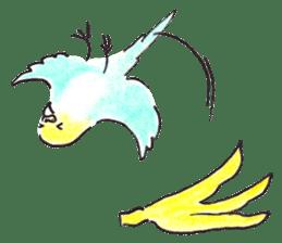 Cute Little Parakeet - HAPPY LIFE sticker #325641