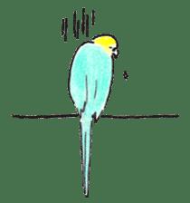 Cute Little Parakeet - HAPPY LIFE sticker #325642