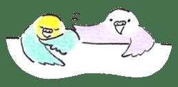 Cute Little Parakeet - HAPPY LIFE sticker #325644