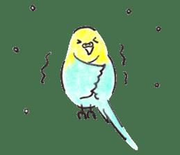 Cute Little Parakeet - HAPPY LIFE sticker #325645