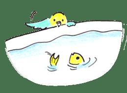 Cute Little Parakeet - HAPPY LIFE sticker #325646