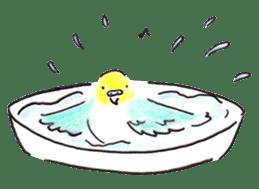 Cute Little Parakeet - HAPPY LIFE sticker #325648