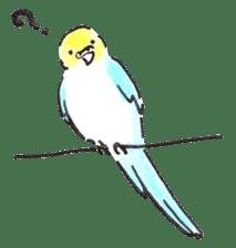 Cute Little Parakeet - HAPPY LIFE sticker #325653