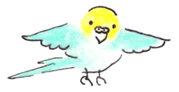 Cute Little Parakeet - HAPPY LIFE sticker #325654
