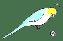 Cute Little Parakeet - HAPPY LIFE sticker #325655