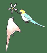 Cute Little Parakeet - HAPPY LIFE sticker #325656