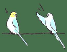 Cute Little Parakeet - HAPPY LIFE sticker #325657