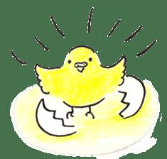 Cute Little Parakeet - HAPPY LIFE sticker #325658