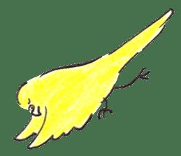 Cute Little Parakeet - HAPPY LIFE sticker #325659