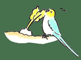 Cute Little Parakeet - HAPPY LIFE sticker #325661