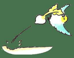 Cute Little Parakeet - HAPPY LIFE sticker #325662