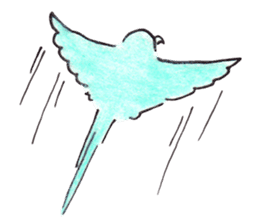Cute Little Parakeet - HAPPY LIFE sticker #325664