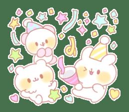 Marshmallow animals sticker #325970