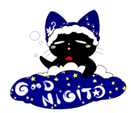 blackcat chibi sticker #327029