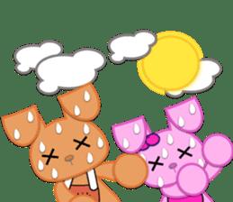 Rabbit Brown & Cherry Pink sticker #329591
