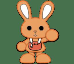 Rabbit Brown & Cherry Pink sticker #329595