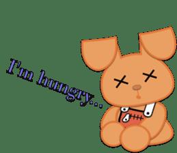 Rabbit Brown & Cherry Pink sticker #329597