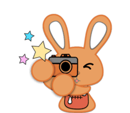 Rabbit Brown & Cherry Pink sticker #329602