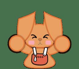 Rabbit Brown & Cherry Pink sticker #329606