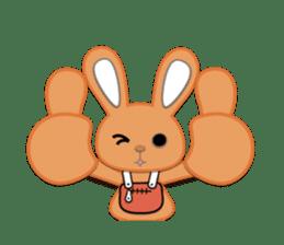 Rabbit Brown & Cherry Pink sticker #329609