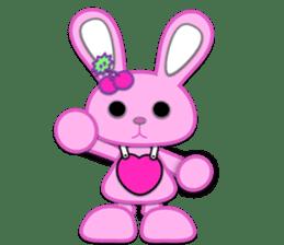 Rabbit Brown & Cherry Pink sticker #329610