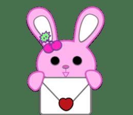 Rabbit Brown & Cherry Pink sticker #329611