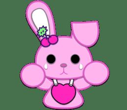 Rabbit Brown & Cherry Pink sticker #329612