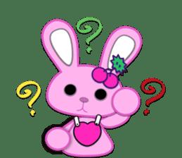 Rabbit Brown & Cherry Pink sticker #329614