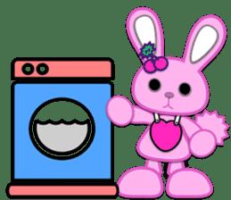 Rabbit Brown & Cherry Pink sticker #329619