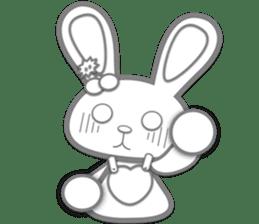 Rabbit Brown & Cherry Pink sticker #329620