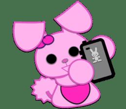Rabbit Brown & Cherry Pink sticker #329622