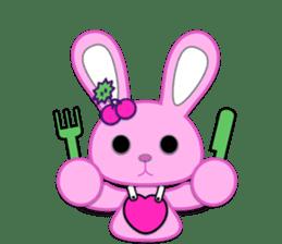 Rabbit Brown & Cherry Pink sticker #329623