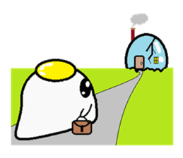 The 1day of fried egg family sticker #331708