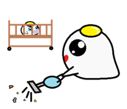 The 1day of fried egg family sticker #331714