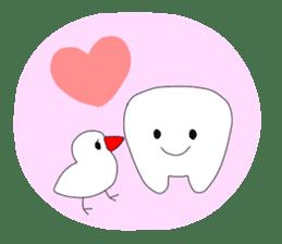 Mr.white teeth sticker #332070