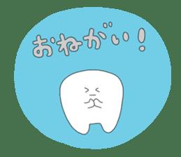 Mr.white teeth sticker #332072