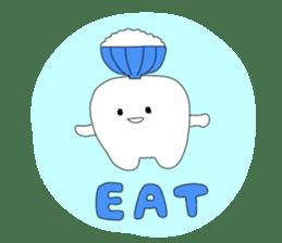 Mr.white teeth sticker #332100