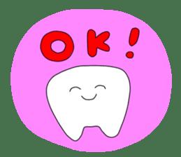 Mr.white teeth sticker #332101