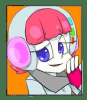 comic girl COSMO sticker #333726