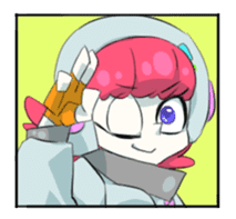 comic girl COSMO sticker #333732