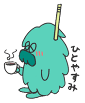 Mossan of mop Japanese version sticker #334012