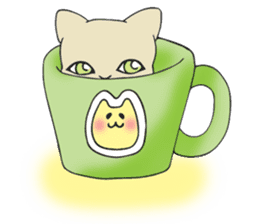 Necoco cat sticker #334404
