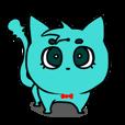 にゃんブルー -かわいい面白動物スタンプ