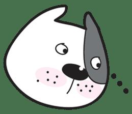 Funny pit bull head sticker #335114