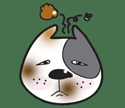 Funny pit bull head sticker #335121